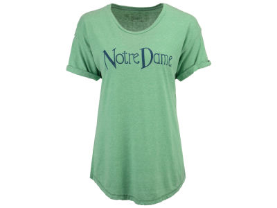 Notre Dame Fighting Irish Retro Brand NCAA Women's Rolled Sleeve T-Shirt