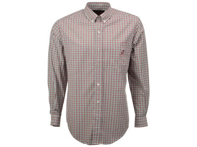 Alabama Crimson Tide NCAA Men's Gingham Check Button Down Shirt