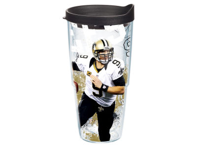 New Orleans Saints Drew Brees 24oz Player Wrap Tumbler