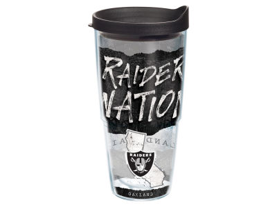 Oakland Raiders 24oz Statement Wrap Tumbler