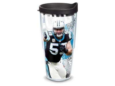 Carolina Panthers Luke Kuechly 24oz Player Wrap Tumbler