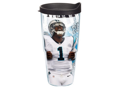 Carolina Panthers Cam Newton 24oz Player Wrap Tumbler