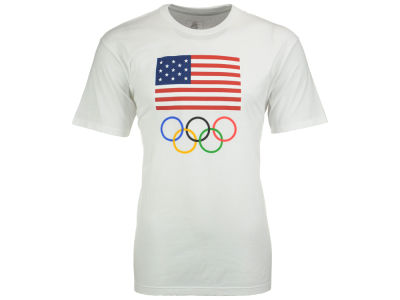 USA Men's Olympics Flag and Rings T-Shirt