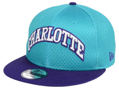Charlotte Hornets New Era NBA Hardwood Classics Tackle Trilled 9FIFTY Snapback Cap