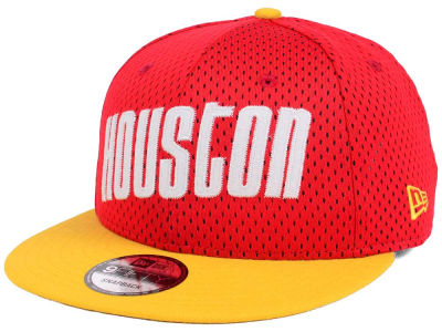 Houston Rockets New Era NBA Hardwood Classics Tackle Trilled 9FIFTY Snapback Cap