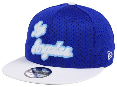 Los Angeles Lakers New Era NBA Hardwood Classics Tackle Trilled 9FIFTY Snapback Cap