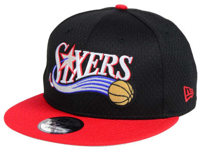 Philadelphia 76ers New Era NBA Hardwood Classics Tackle Trilled 9FIFTY Snapback Cap