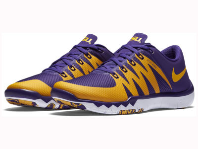 LSU Tigers Nike NCAA Men's Free Trainer 5.0 V6 AMP Running Shoes