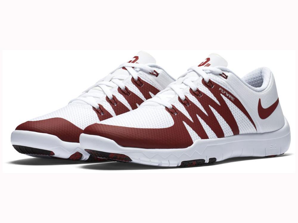 b5a09ccafd9c ... Oklahoma Sooners Nike NCAA Mens Free Trainer 5.0 V6 AMP Running Shoes  ...