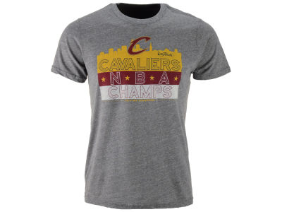Cleveland Cavaliers Majestic NBA Men's Champ Skyline Tri-blend T-Shirt