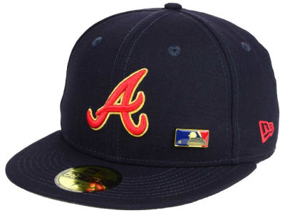 Atlanta Braves New Era MLB Metal Man 59FIFTY Cap