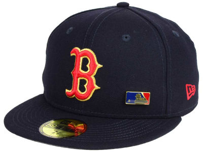 Boston Red Sox New Era MLB Metal Man 59FIFTY Cap