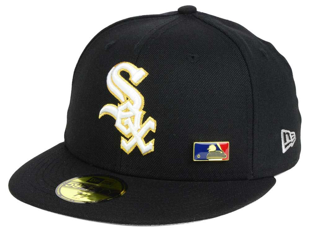 670eb61049a Chicago White Sox New Era MLB Metal Man 59FIFTY Cap
