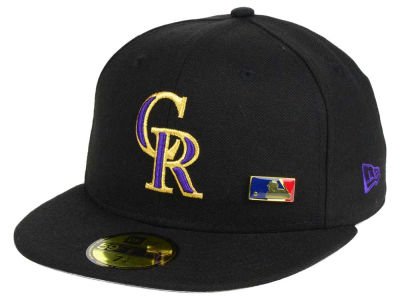 Colorado Rockies New Era MLB Metal Man 59FIFTY Cap