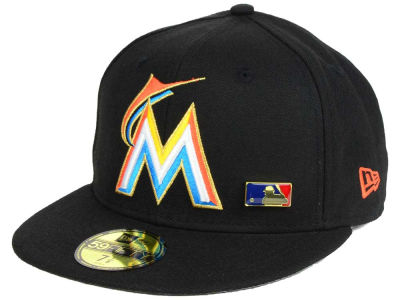 Miami Marlins New Era MLB Metal Man 59FIFTY Cap