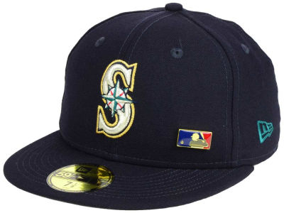 Seattle Mariners New Era MLB Metal Man 59FIFTY Cap