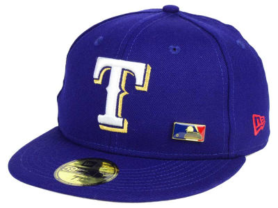 Texas Rangers New Era MLB Metal Man 59FIFTY Cap