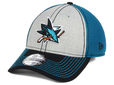 San Jose Sharks New Era NHL Heathered Neo 39THIRTY Cap