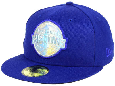 Detroit Pistons New Era NBA Iridescent 59FIFTY Cap