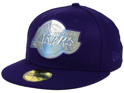 Los Angeles Lakers New Era NBA Iridescent 59FIFTY Cap