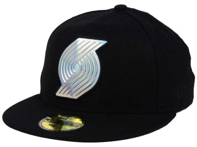 Portland Trail Blazers New Era NBA Iridescent 59FIFTY Cap