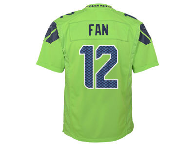 Seattle Seahawks Fan #12 Nike NFL Youth Color Rush Jersey