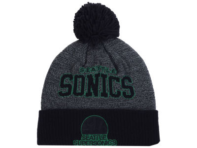 Seattle SuperSonics Mitchell and Ness NBA Black Board Knit