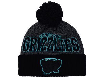 Vancouver Grizzlies Mitchell & Ness NBA Black Board Knit