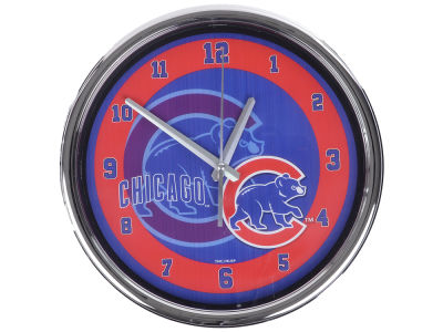 Chicago Cubs Chrome Clock II