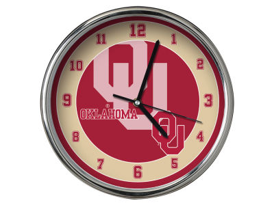 Oklahoma Sooners Chrome Clock II
