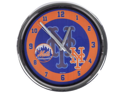 New York Mets Chrome Clock II