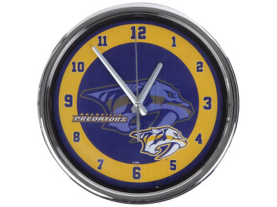Nashville Predators Chrome Clock II