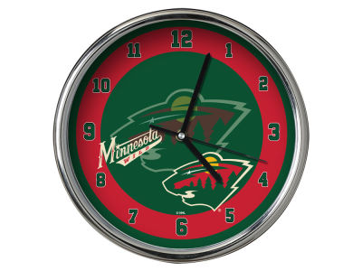 Minnesota Wild Chrome Clock II
