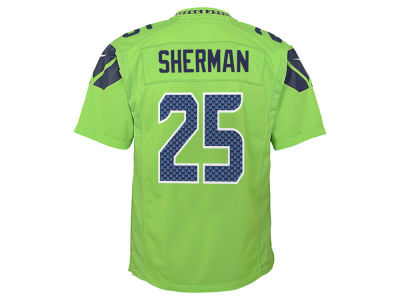 Seattle Seahawks Richard Sherman Nike NFL Youth Color Rush Jersey