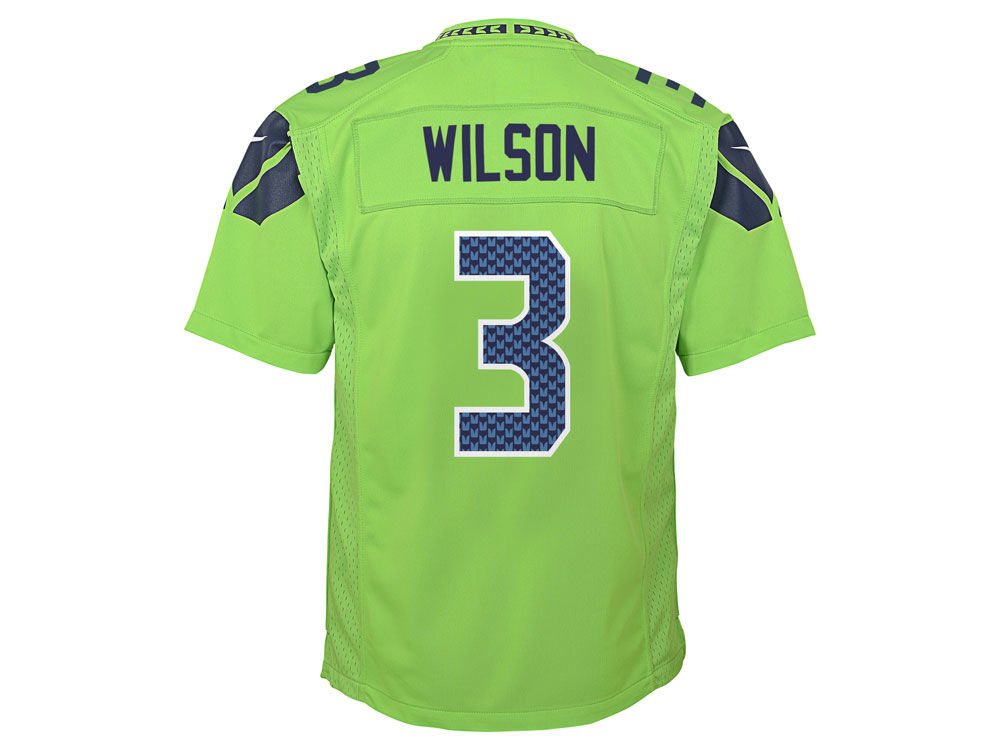 Seattle Seahawks Russell Wilson Nike NFL Youth Color Rush Jersey ... 57bcf5ea0