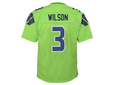 Seattle Seahawks Russel Wilson NFL Youth Color Rush Jersey