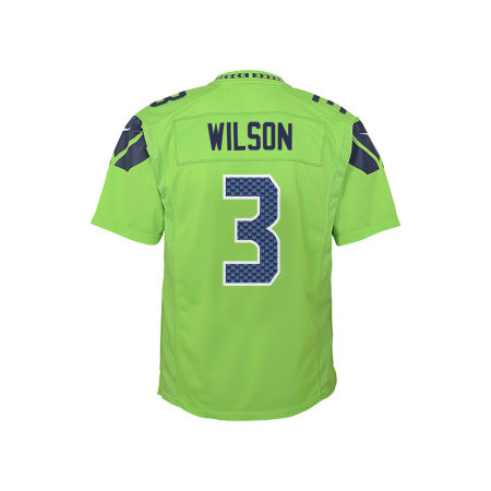 Seattle Seahawks Russell Wilson NFL Youth Color Rush Jersey