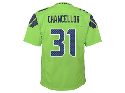 Seattle Seahawks Kam Chancellor NFL Youth Color Rush Jersey