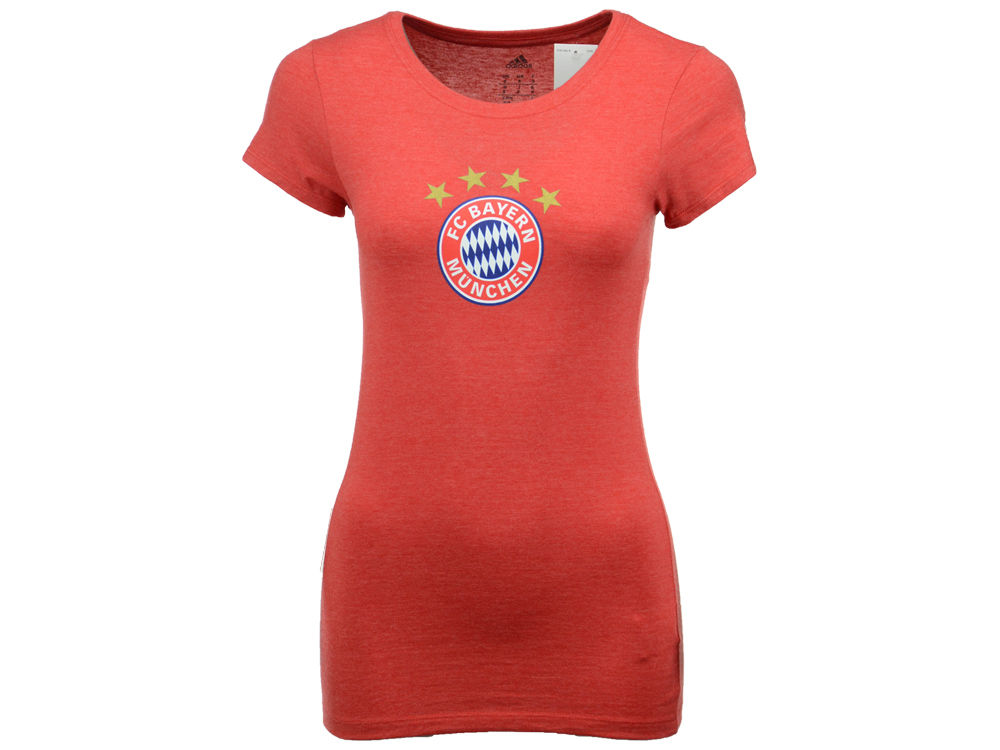 Bayern Munich adidas International Soccer Club Team Women s Crest T-Shirt  dd33c8fe0