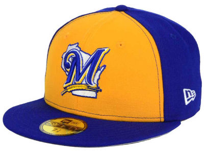 Milwaukee Brewers New Era MLB Twist Up 59FIFTY Cap