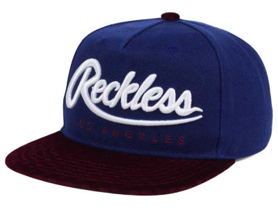 Young And Reckless Big R Script Checkers Snapback Cap