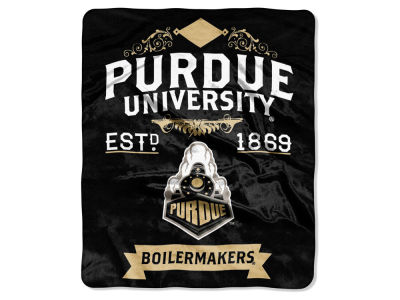 Purdue Boilermakers 50x60in Plush Throw Team Spirit