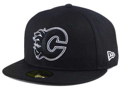 Calgary Flames New Era NHL Black Dub 59FIFTY Cap
