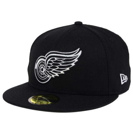 Detroit Red Wings New Era NHL Black Dub 59FIFTY Cap