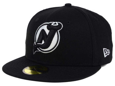 New Jersey Devils New Era NHL Black Dub 59FIFTY Cap
