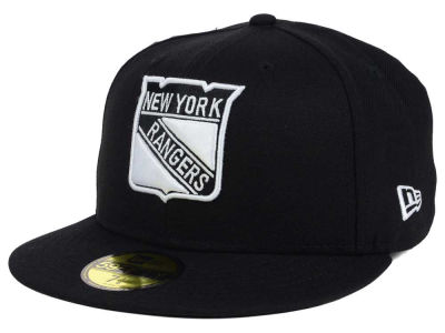 New York Rangers New Era NHL Black Dub 59FIFTY Cap