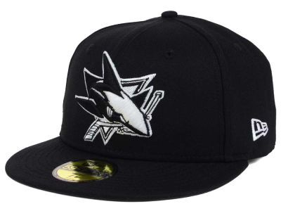 San Jose Sharks New Era NHL Black Dub 59FIFTY Cap