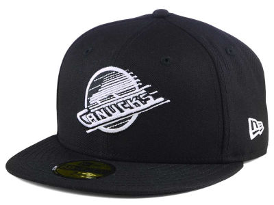 Vancouver Canucks New Era NHL Black Dub 59FIFTY Cap