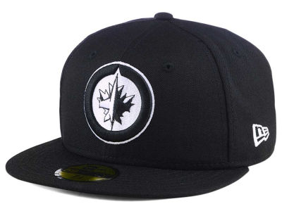 Winnipeg Jets New Era NHL Black Dub 59FIFTY Cap