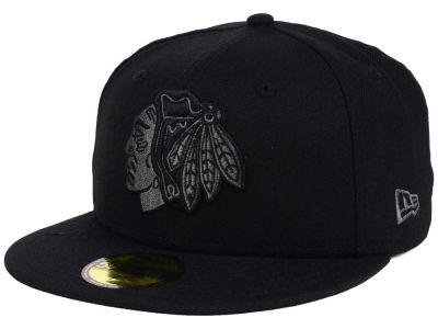 Chicago Blackhawks New Era NHL Black Graph 59FIFTY Cap